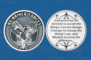 25-Pack - Religious Coin Token - Soldier's Serenity Prayer