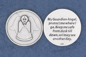 25-Pack - Religious Coin Token - My Guardian Angel, protect me where I go
