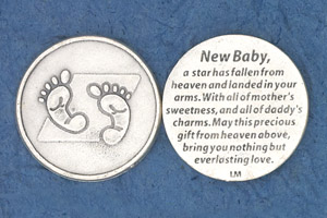 25-Pack - Religious Coin Token - New Baby