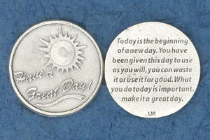 25-Pack - Religious Coin Token - Have a great day!