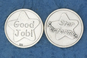 25-Pack - Religious Coin Token - Star Performer/ Good Job!