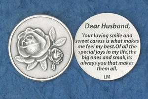25-Pack - Religious Coin Token - Dear Husband