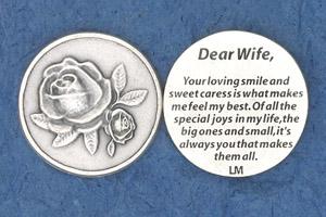 25-Pack - Religious Coin Token - Dear Wife