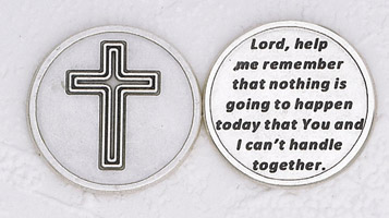 25-Pack - Lord, Remember' Silver Plated Pocket Token