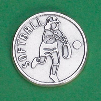 25-Pack - Sports Token with Softball Player- Never Give Up, Champions Never Quit