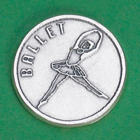 25-Pack - Sports Token with Ballet- Never Give Up, Champions Never Quit