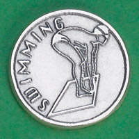 25-Pack - Sports Token with Swimming- Never Give Up, Champions Never Quit