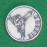 25-Pack - Sports Token with Karate- Never Give Up, Champions Never Quit