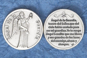 25-Pack - Silver Plated Token - Spanish Angel Guarda