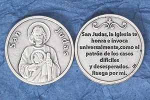 Silver Plated Token Spanish San Judas