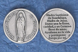 25-Pack - Silver Plated Token - Spanish Senora de Guadalupe