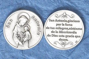 25-Pack - Silver Plated Token - Spanish San Antonio