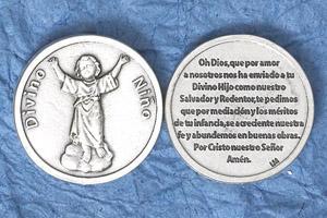 25-Pack - Silver Plated Token - Spanish Divino Nino