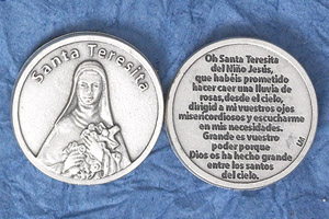 25-Pack - Silver Plated Token - Spanish Santa Teresita