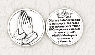 25-Pack - Silver Plated Token - Spanish La Serenidad