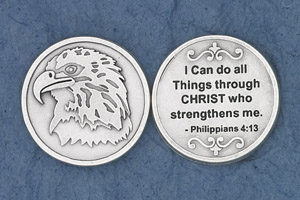 25-Pack - Philippians 4:13 - Silver Plated