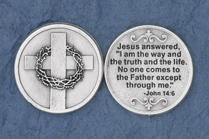 25-Pack - Jesus answered, 'I am the way' (John 14:6) - Silver Plated
