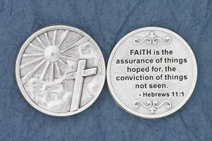25-Pack - Faith is the assurance of things' (Hebrews 11:1) - Silver Plated