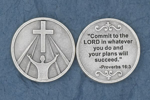 25-Pack - Commit to the Lord' (Proverbs 16:3) - Silver Plated