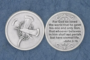 25-Pack - For God so loved the world (John 3:16) - Silver Plated
