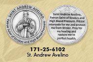 25-Pack - Healing Saints Tokens - Saint Alphonsus Ligouri- patron saint of Arthritis - Silver Plated