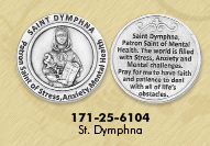 25-Pack - Healing Saints Tokens - Saint Charles Borromeo- patron saint of Obesity and Dieting - Silver Plated