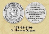 25-Pack - Healing Saints Tokens - Saint Josemaria Escriva- patron saint of Diabetes - Silver Plated