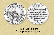 25-Pack - Healing Saints Tokens - Saint Maximilian Kolbe- patron saint of Addictions - Silver Plated
