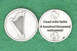 25-Pack - Irish Coin - A Hundred Thousand Wel comes