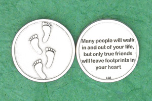 25-Pack - Irish Coin - Footprints- Many People will walk in and out of your life