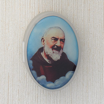 6-Pack - Rosary Case with image of Padre Pio