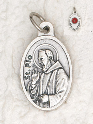 25-Pack - Padre Pio Pendant with Third Class Relic on back