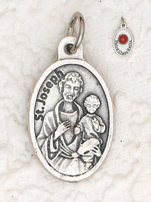 25-Pack - St Joseph Pendant with Third Class Relic on back