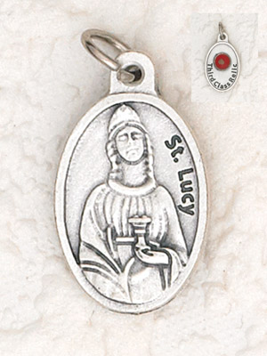25-Pack - St Lucy Pendant with Third Class Relic on back