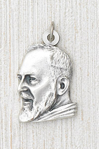 12-Pack - 1 inch  two dimensional Padre Pio Pendant