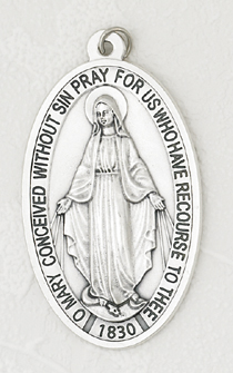 "3-1/2"" Miraculous Medal English"