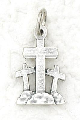 50-Pack - 3 Crosses - Italian Silhouette Pendant