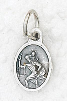 50-Pack - Bracelet Size St. Christopher Pendant