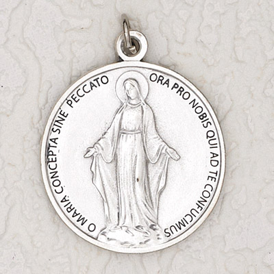 12-Pack - Round Large Miraculous Medal 1-3/4 inch