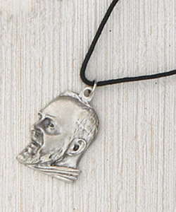 12-Pack - Padre Pio SIlhouette Pendant with Cord