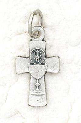 25-Pack - Bracelet Size Chalice Cross Pendant