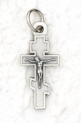 25-Pack - Byzantine Cross Charm - Silver Plated