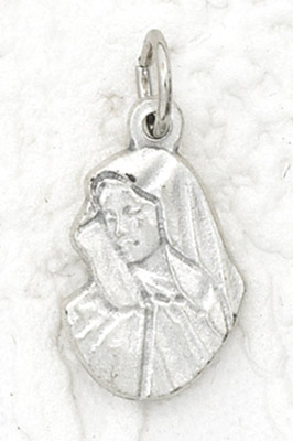25-Pack - Lady of Sorrows Charm- Silver Plated