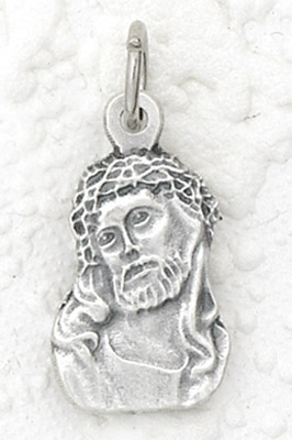 25-Pack - Ecce Homo Charm- Silver Plated