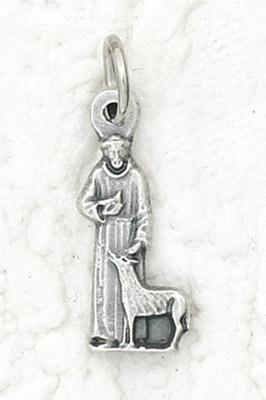 25-Pack - St Francis with Animal Charm- Silver Plated