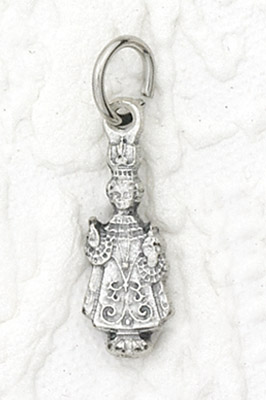 25-Pack - Infant of Prague Charm- Silver Plated
