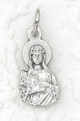 25-Pack - StPhilomena Charm- Silver Plated