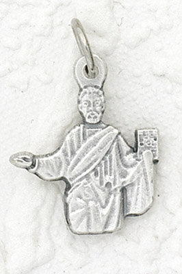 25-Pack - St Mark Charm- Silver Plated