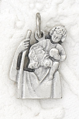 25-Pack - St Christopher Charm- Silver Plated