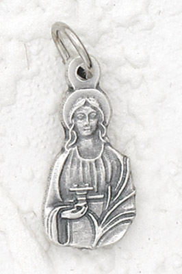 25-Pack - St Lucy Charm- Silver Plated